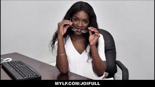 Hot Ebony Girl Office JOI