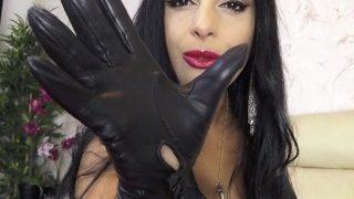 Mistress in leather gloves CEI