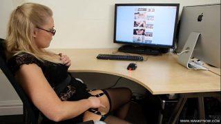WankItNow – Sexy Abigail Toyne Caught in The Office