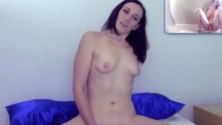 JerkOffGames – Petite Brunette Playing JOI Challenge