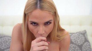 Big Tits Blonde Sarah Vandella in Handjob Jerk Off Challenge