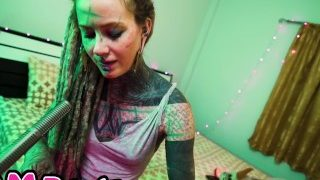 Alternative Tattooed Babe Anuskatzz Candy Licking ASMR