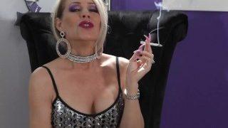 Mature MILF Nikki Ashton Giving Fetish POV Smoking JOI