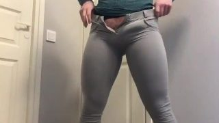 Shemale Goddess in Tight Jeans Pants Bulge JOI