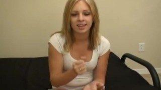 Kinky Blonde Stepsis Gives SPH Jerk Off Instructions